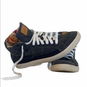 Coach Ellis Denim High Top Sneaker | Poppy Lining